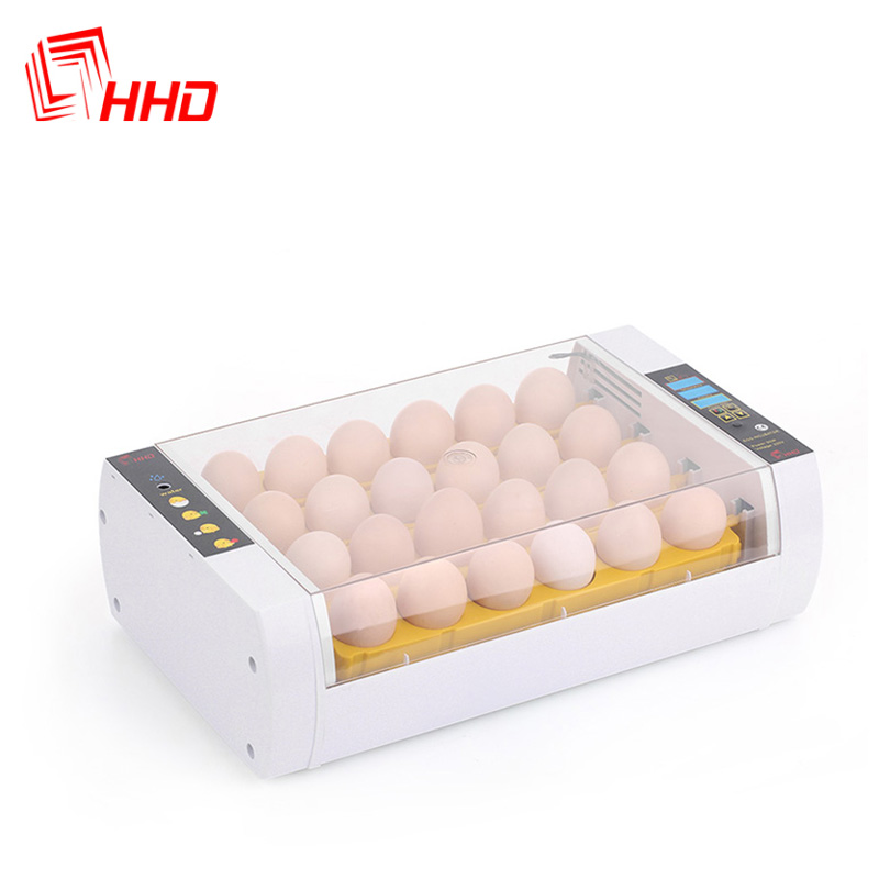 HHD 98% Hatching rate Factory price Full automatic 24 chicken egg incubator